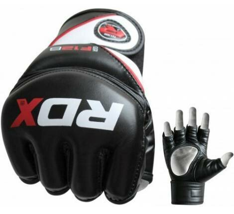 Перчатки RDX MMA Rex Leather Black